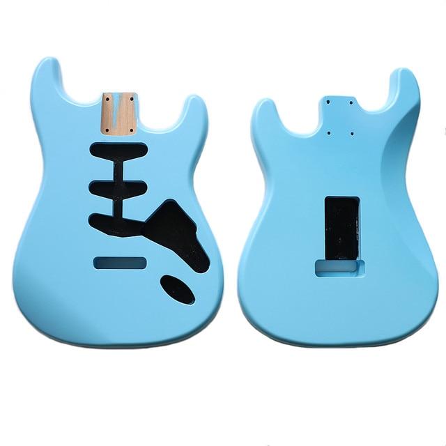 نيترو انتهى لتقوم بها بنفسك SSS سونيك الأزرق ألدر ST الغيتار الجسم ل SSS اليدوية الكهربائية عِدد جيتار