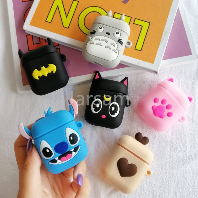 Cartoon Cute Wireless Earphone Case For AirPods 2 Silicone Charging Headphones Case for Air pod cases Protective luxury Cover 1