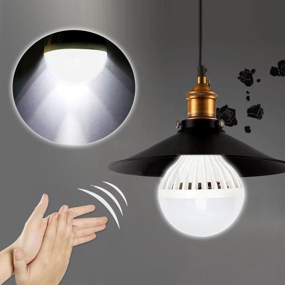 3W Auto-sensing Clap Control Motion Sensor LED Bulbs Sound Activated Bulb E27 Energy-saving LED Smart Night Light Home Assistant