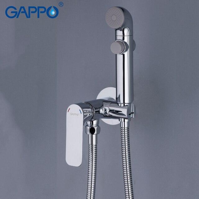 GAPPO สำหรับการเดินทางห้องน้ำฝักบัว bidet bidet แบบพกพาผสมมุสลิม Shower Wall Mount สเปรย์ Shattaf