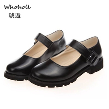 Women Flats Shoes Big Size 35-39 Retro College Wind Round Buckle Thick Crust Muffin Shoes Small Doll Shoes Leather Shoes Sweet цены онлайн