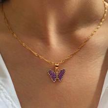 Женское блестящее ожерелье flatfoosie корейский кулон в виде