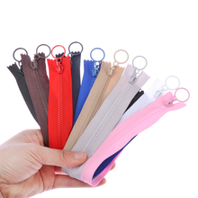 Resin Zipper Garment-Accessories Sewing-Bag Round 25cm for DIY Tooth-Design 5pcs Candy-Colors