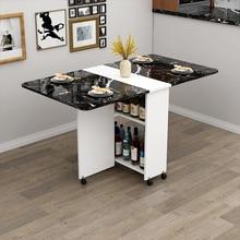 Деревянный складной обеденный стол с колесами, гостиная, кухонные столы, мебель, экологически чистый деревянный передвижной настенный стол для хранения