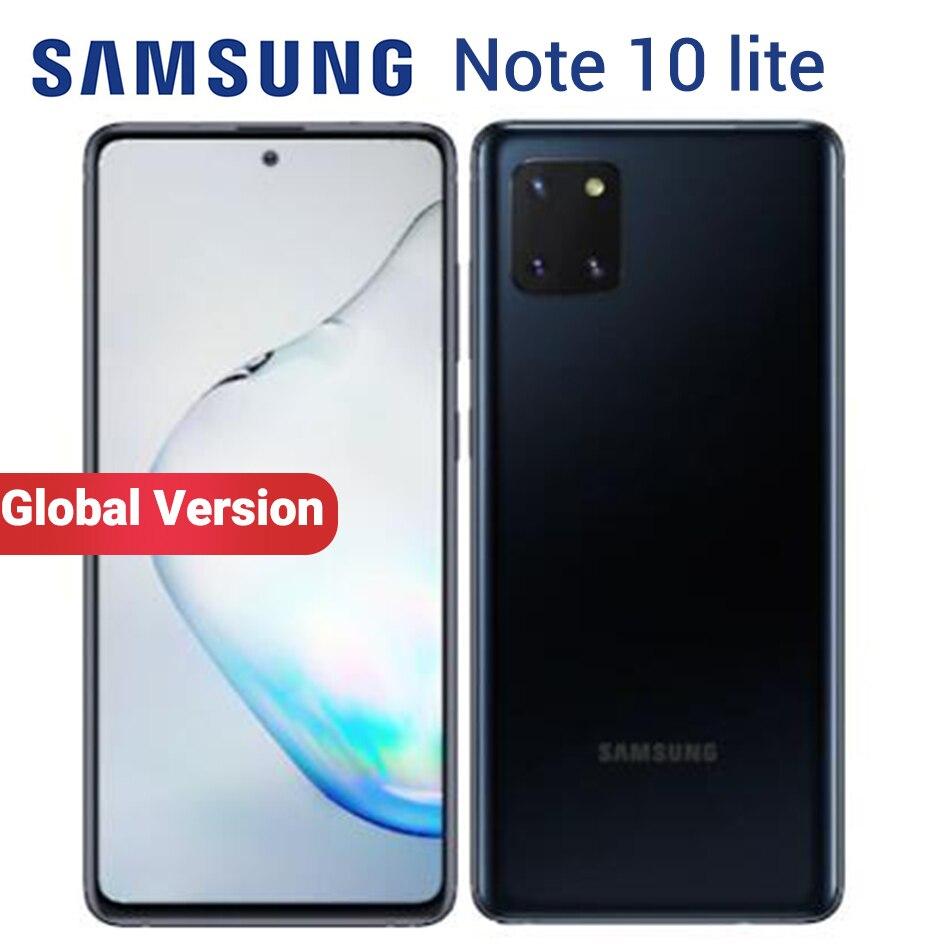 """Samsung galaxy note 10 lite 8gb 128gb telefone celular nfc exynos 9810 n770f/ds 6.7 """"frente 32mp duplo sim 4500mah smartphone"""