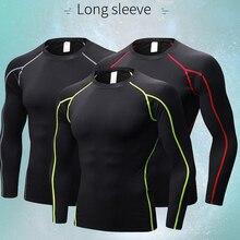 Mens Quick Dry Soccer Sweatshirts Compression Fitness Tights Gym Sportswear Basketball Men Shirt Bodybuilding Rashgard T-Shirt