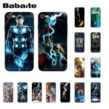Babaite Thunder Thor GOD Phone Case for iphone 11 Pro 11Pro Max 6S 6plus 7 7plus 8 8Plus X Xs MAX 5 5S XR black with white moon stars space astronaut phone case shell for iphone 6s 6plus 7 7plus 8 8plus x xs max 5 5s xr 11pro max