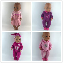Doll Jump Suits Fit For 43cm Baby Doll Doll Reborn Baby Clothes(China)
