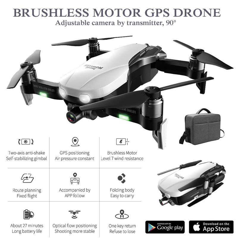 GPS Drones with Camera HD 2K Two-Axis Anti-Shake RC Quadcopter WiFi FPV Profissional Drone GPS Quadrocopter Rc Helicopter Dron image