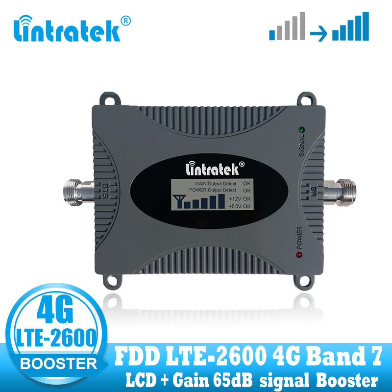 Lintratek 4g Lte Repeater Signal Booster Amplifier 2600 Internet LTE 2600 Cellular Signal Amplifier Cell Phone 2600mhz Repeater