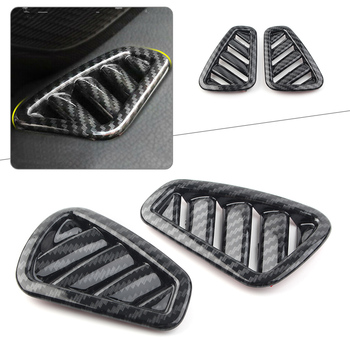 Carbon Fiber Style Car AC Air Vent Outlet Cover ABS Trim For 2019 Mercedes Benz A-Class W177 A200 A220 A250 5-Door Only 2Pcs image