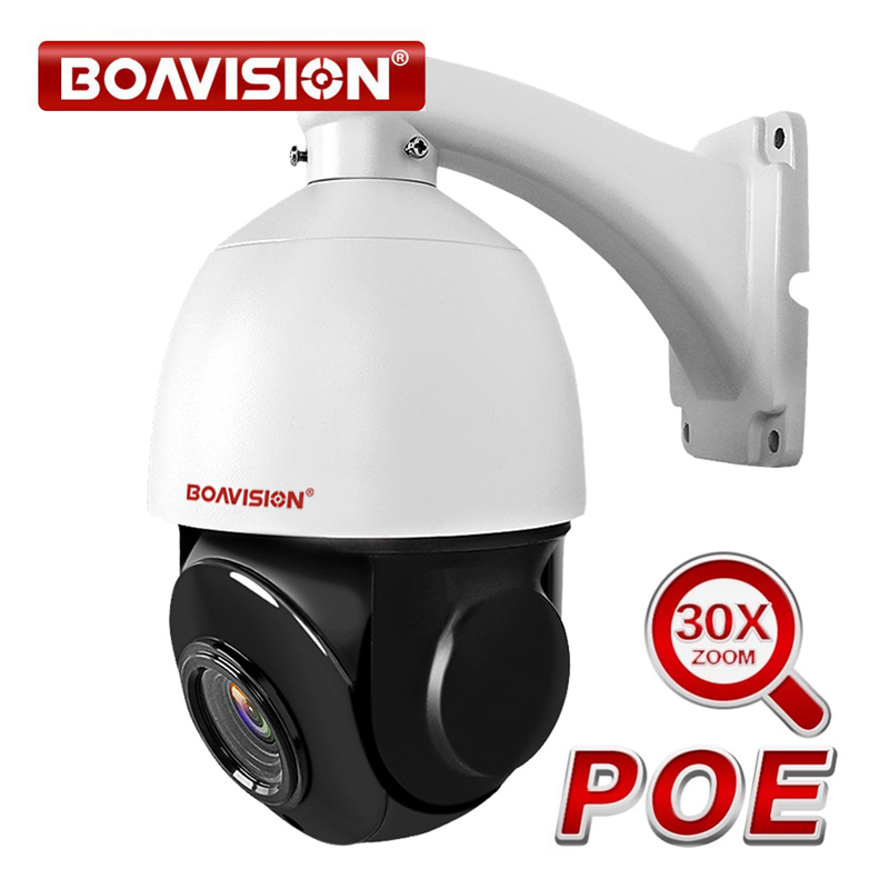1080P 2MP PTZ IP Camera POE 30X ZOOM Waterproof 4MP 5MP Mini Speed Dome Camera Outdoor H.264 IR 50M CCTV Security Camera 48V POE