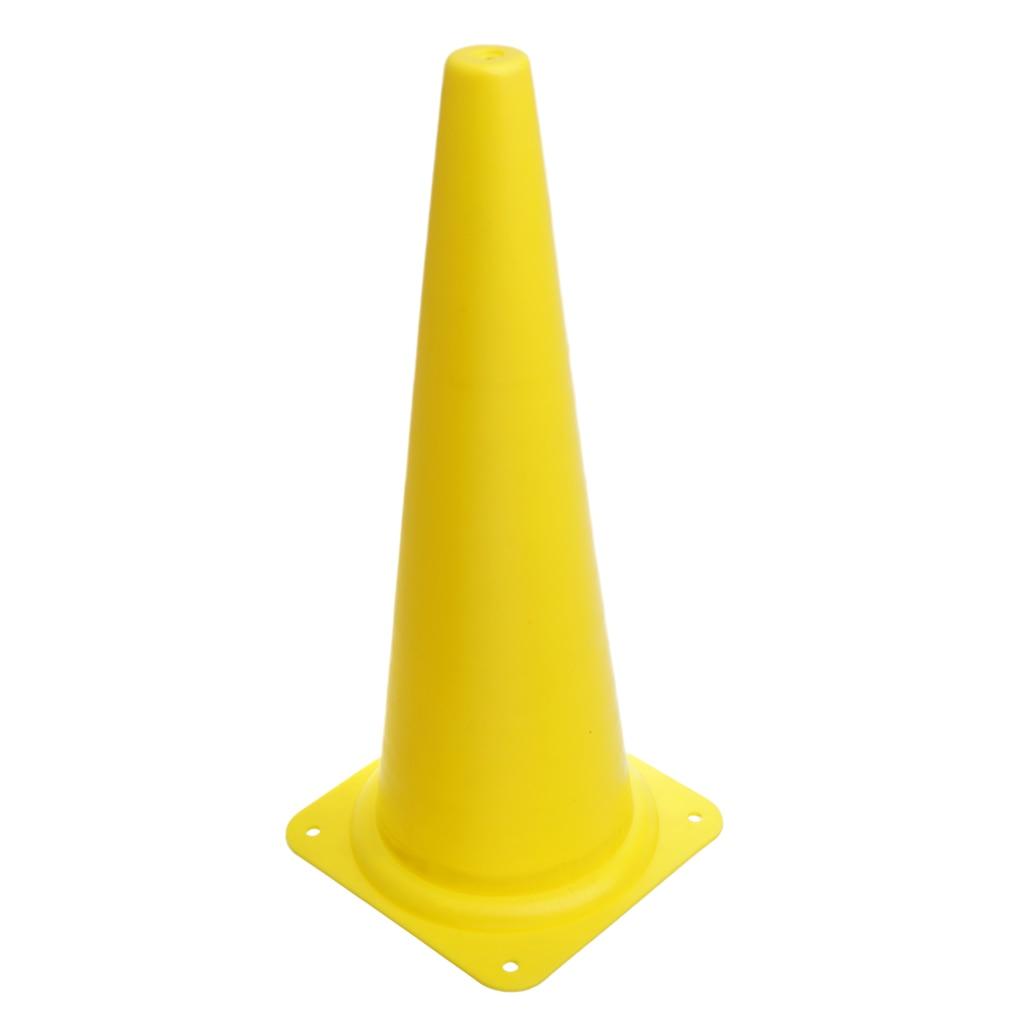48 см конус безопасности для спортивных тренировок, футбола, строительства, дорожного движения - Цвет: Цвет: желтый