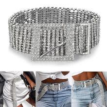 2019 cinturones de moda para mujeres 10 filas completo strass brillante cintura Casual vestido de fiesta cinturón cadena