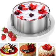Geri çekilebilir paslanmaz çelik halka köpük halka kek pişirme aracı Set boyutu şekli ayarlanabilir Bakeware gümüş mutfak gereçleri