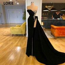 Lorie черные вельветовые вечерние платья для выпускного вечера