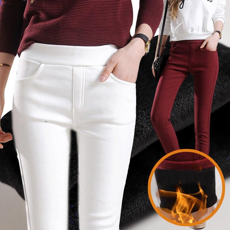 2019 Autumn Winter Thickening Women Leggings Cotton Fur Lock Hot Lady Leggings Pencil Keep Warm 4xl Plus Size Legging