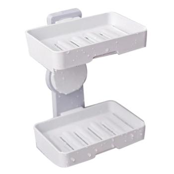 ABSS-двухслойный мощный держатель на присоске для мыльницы, настенный держатель для ванной комнаты, держатель для мыла, коробка для хранения, ...