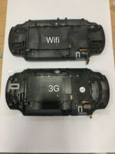 OEM back cover case touch panel for psvita for ps vita psv 1000 console housing 3G or WIFI version black