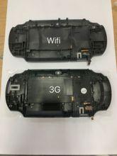 Oem capa traseira caso painel de toque para psvita para ps vita psv 1000 console habitação 3g ou versão wifi preto
