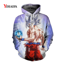 Newest Mens Womens 3D Sweatshirt Dragon Ball Z Anime Hoodies Goku Graphic Print Sportswear Pullover Cartoons Tracksuit Tops
