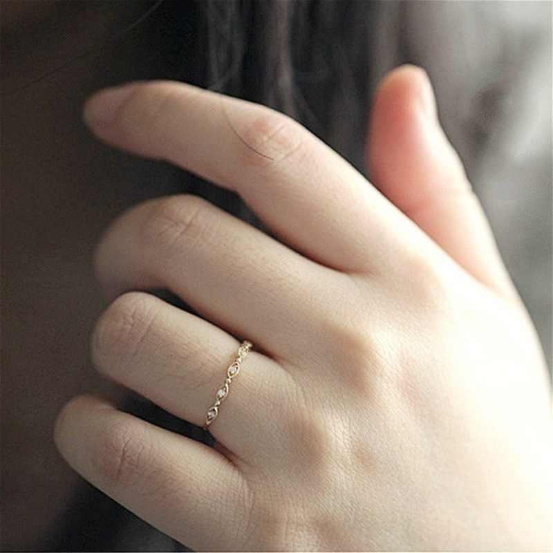 น่ารักและที่ละเอียดอ่อน Royal Princess แหวน AA คุณภาพสูง zircon CZ elegant หญิงอารมณ์เครื่องประดับแหวนแฟชั่นของขวัญ