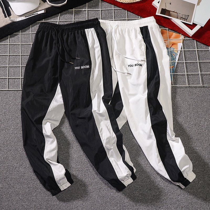 FGKKS Summer New Men Casual Pants Japan Style Trend Male Drawstring Trousers Men's Street Hip Hop Sweatpants