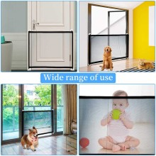 Door-Gate Fences Mesh Playpen Safety Portable Rails-Care Pet-Separation-Supplies Folding