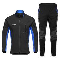 Men's windbreaker winter Cycling Jacket set Mountain Bike waterproof Riding Cycling Jacket Winter reflective rain jacket sets