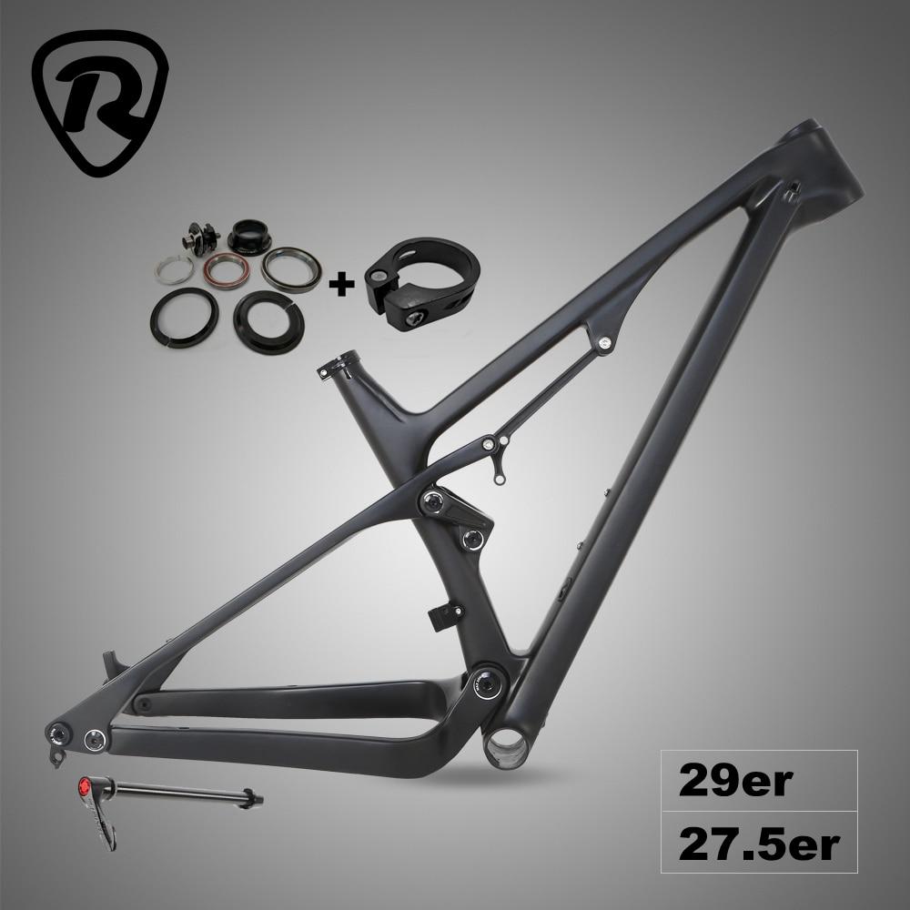 MC9 Carbon Mtb Full Suspension Frame 29er Thru Axle 12*148mm 27.5er 650B T1000 Carbon Fibre Mountain Bike Bicycle Frames 19inch