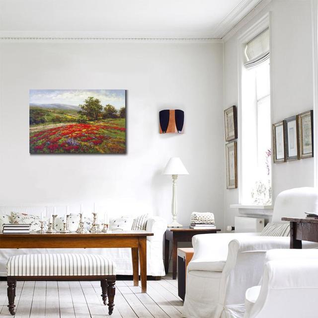 Peinture à lhuile paysage dart moderne   Paysage, peinture à lhuile, Campo Di Fiore II, décor de chambre à coucher peint à la main