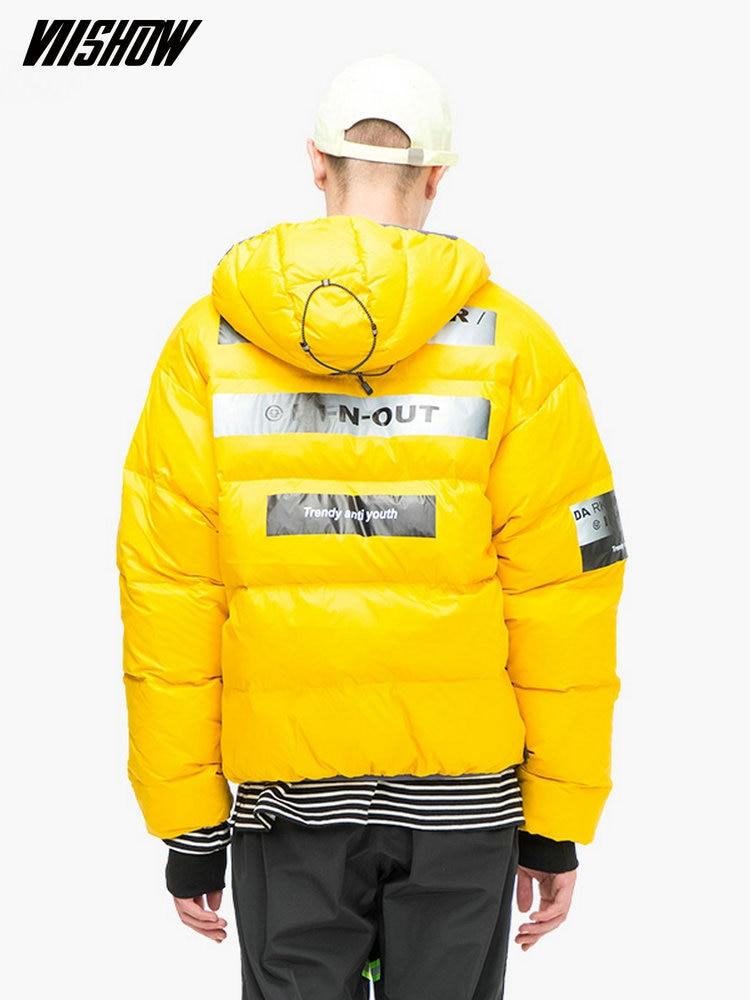 VIISHOW White Duck Men's Down Jacket Brand Winter Jacket For Men Doudoune Homme 2018 Printed Men's Winter Jacket Coat YC2213184