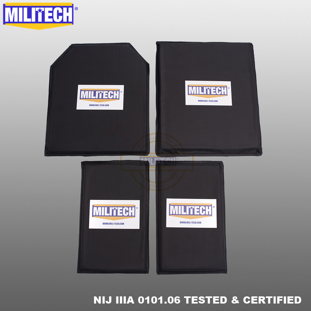MILITECH 10 X 12 STC&SC And 6x10 Pairs Aramid Ballistic Panel Bullet Proof Plate Inserts Soft Cummerbund Side Armour NIJ IIIA 3A