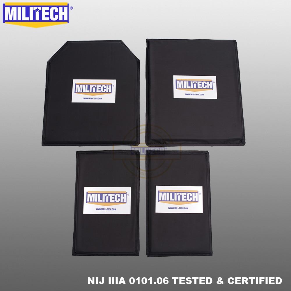 MILITECH 10 X 12 STC&SC And 6x10 Pairs Aramid Ballistic Panel Bullet Proof Plate Inserts Soft Cummerbund Side Armour NIJ IIIA 3A