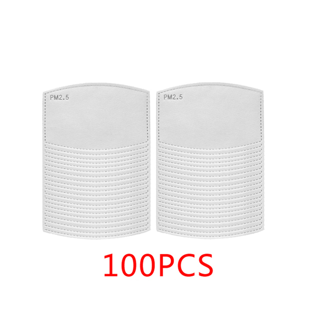10-100pcs PM2.5 Filter Paper Anti Dust Mask Filter Cotton Face Masks Insert Protective Filter Outdoor Activities Protection 4