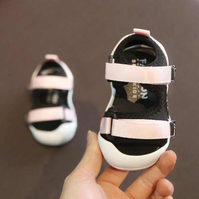 Letnie niemowlę maluch sandały dziewczynek chłopców sandały miękkie dno wygodne antypoślizgowe buty dzieci antykolizyjne sandały