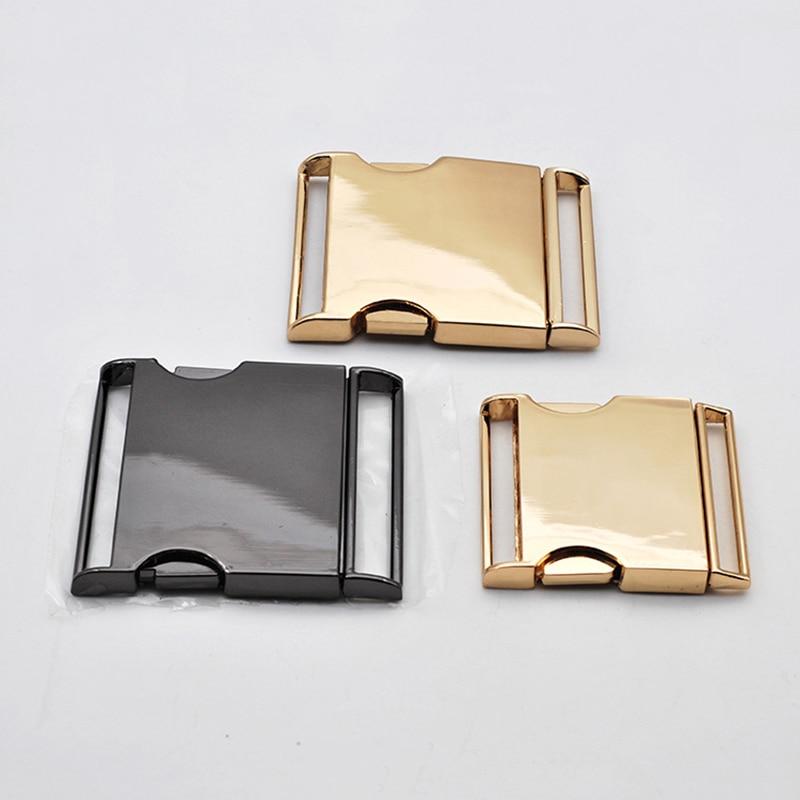 1pcs/pack Metal Side Release Curved Buckles Bracelet Buckles 30/40/45/50mm DIY Solid Color Men Metal Buckle Accessories For Belt