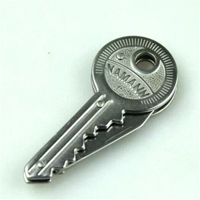 1 шт. мини-нож в виде ключа из нержавеющей стали складные карманные цепи Овощечистка портативный Походное кольцо инструмент нож для выживан...
