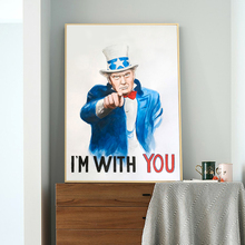TRUMP I'm With You Posters Funny President Canvas Print Paintings Wall Art Modular Pictures for Living Room Home Decor