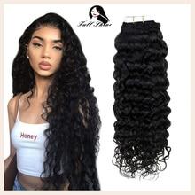 Натуральные волнистые волосы remy для наращивания, 50 г, 20 шт., клей для наращивания волос