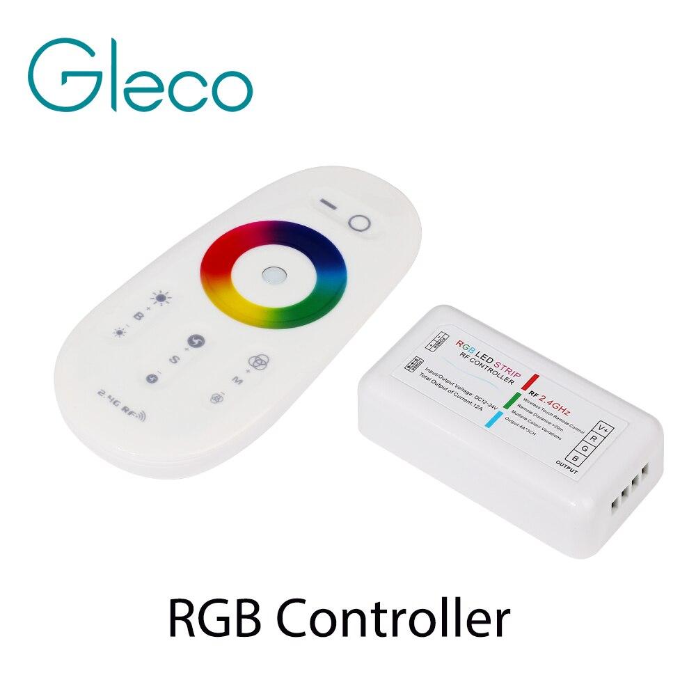 RF 2.4G RGB RGBW Controller Led Strip RGB Controller Wireless RF Remote Controller With Remote Wall Holder for LED Strip 5050
