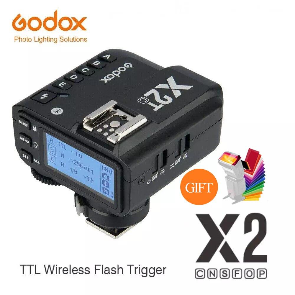 Godox X2 X2T-C X2T-N X2T-S X2T-F X2T-O X2T-P TTL 1/8000s HSS Беспроводной триггер для вспышки для цифровой зеркальной камеры Canon Nikon Sony Fuji Olympus Pentax