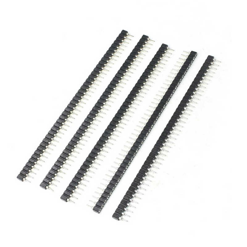 Baru 3 Pcs/6 Pcs Praktis Strip Baru Tin PCB WANITA IC Pecah 40pin Baris Tunggal Bulat Header Socket