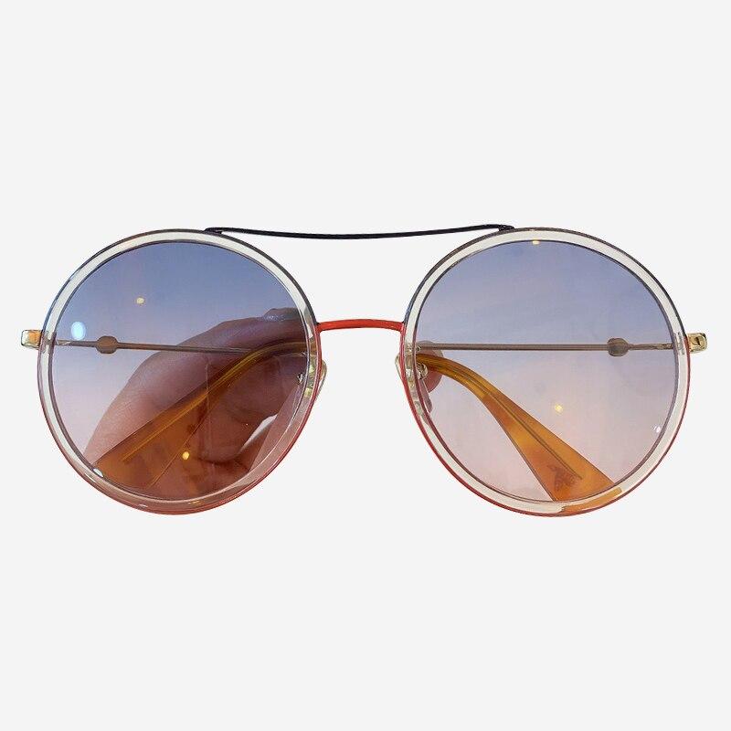 2019 New Round Sunglasses Women Brand Designer gafas de sol hombre Vintage Gradient Sun Glasses Female