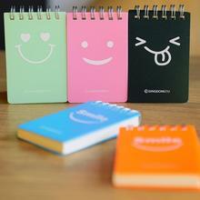Милый смайлик дизайн школьников Дневник Журнал Блокнот бумага эскиз книга офис закрепленный блокнот школьные принадлежности