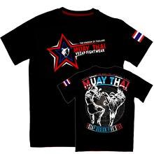 VSZAP Thailand Thai boxing short sleeve fighting T-shirt men  for muscle MMA training fitness running