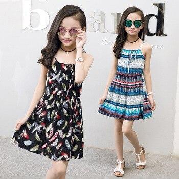 Girls Summer Dress for Girls Teen Princess Kids Clothes Beach Flower Floral Dress Sundress 2 3 4 5 6 7 8 9 10 11 12 13 14 Years