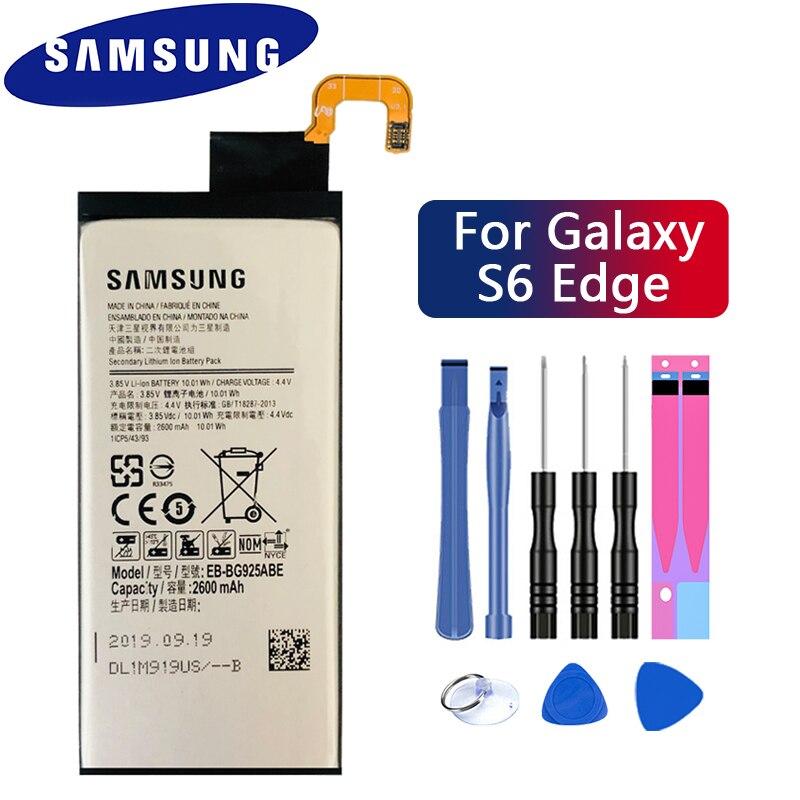 SAMSUNG Original Replacement Battery EB-BG925ABE 2600mAh For Samsung GALAXY S6 Edge G9250 G925FQ G925F G925S S6Edge G925V G925A