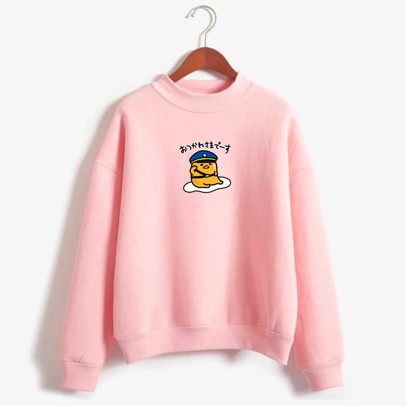 2019 Autumn And Winter Version Of The Warm Top Lazy Egg Hoodie Cute Cartoon Kawaii Jersey Women's Harajuku Gudetama Pullover
