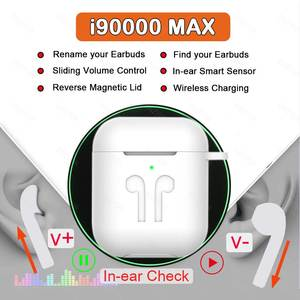 TWS Wireless Earphone Earbuds Volume-Control Rename I5000 I90000 Max Super-Bass PK Air-2